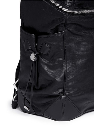 Detail View - Click To Enlarge - Alexander Wang  - 'Wallie' waxy paper leather backpack