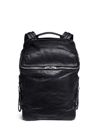 Main View - Click To Enlarge - ALEXANDERWANG - 'Wallie' waxy paper leather backpack