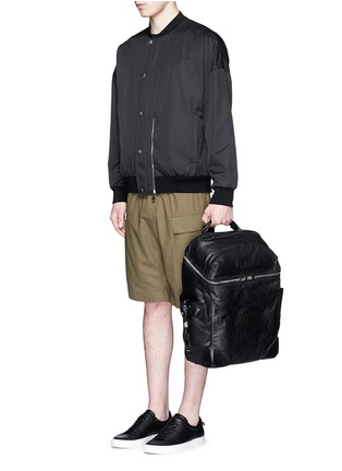 Figure View - Click To Enlarge - ALEXANDERWANG - 'Wallie' waxy paper leather backpack