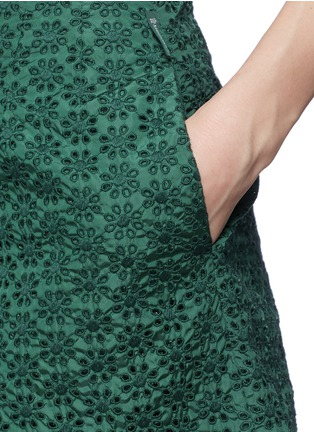 Detail View - Click To Enlarge - Moncler - San Gallo lace shorts