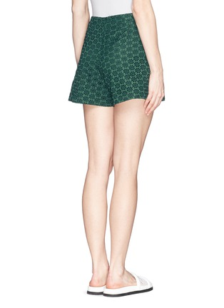 Back View - Click To Enlarge - Moncler - San Gallo lace shorts