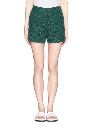 Main View - Click To Enlarge - Moncler - San Gallo lace shorts