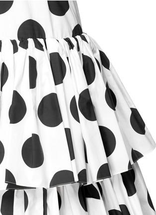 Detail View - Click To Enlarge - Dolce & Gabbana - Paint effect polka dot high waist tier skirt