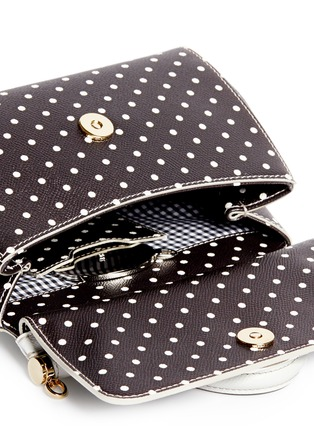 Detail View - Click To Enlarge - - - 'Miss Sicily' mini polka dot leather satchel