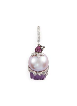 Main View - Click To Enlarge - Bao Bao Wan - Diamond sapphire pearl amethyst cupcake pendant