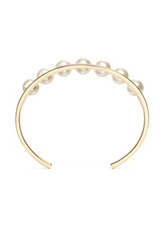 Chloé 'Darcey' inset Swarovski pearl cuff