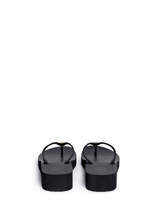 Back View - Click To Enlarge - TORY BURCH - 'Thin' wedge flip flops