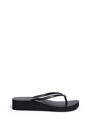 Main View - Click To Enlarge - TORY BURCH - 'Thin' wedge flip flops