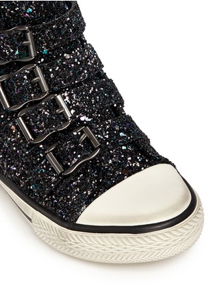 Detail View - Click To Enlarge - 90115 - 'Fanta Bis' glitter toddler sneakers