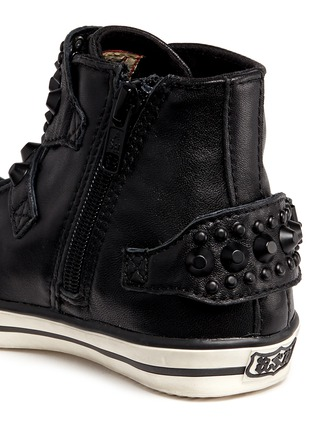 Detail View - Click To Enlarge - Ash - 'Frog' stud leather toddler sneakers