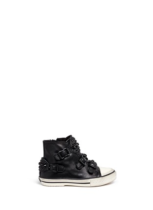 Main View - Click To Enlarge - Ash - 'Frog' stud leather toddler sneakers