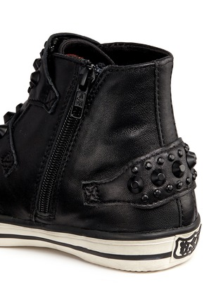 Detail View - Click To Enlarge - Ash - 'Frog' stud leather kids sneakers