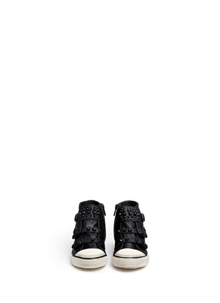 Figure View - Click To Enlarge - Ash - 'Frog' stud leather kids sneakers
