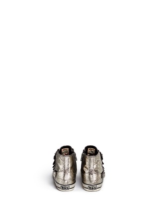 Back View - Click To Enlarge - Ash - 'Fanta' metallic leather kids sneakers
