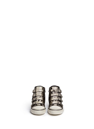 Figure View - Click To Enlarge - Ash - 'Fanta' metallic leather kids sneakers