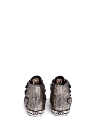 Back View - Click To Enlarge - 90115 - 'Fanta' metallic leather toddler sneakers