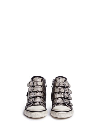 Figure View - Click To Enlarge - 90115 - 'Fanta' metallic leather toddler sneakers