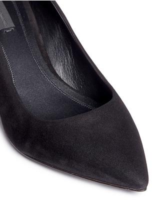 Detail View - Click To Enlarge - Alexander Wang  - 'Simona' cutout heel suede pumps