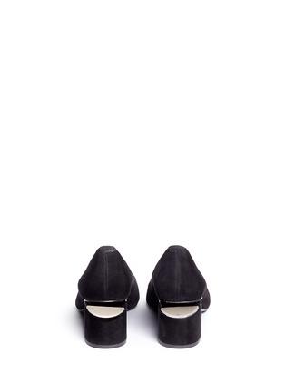 Back View - Click To Enlarge - Alexander Wang  - 'Simona' cutout heel suede pumps
