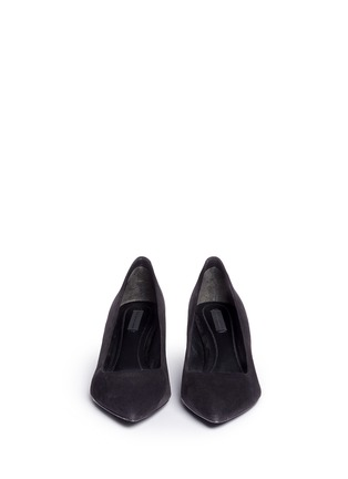 Front View - Click To Enlarge - Alexander Wang  - 'Simona' cutout heel suede pumps