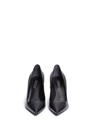 Front View - Click To Enlarge - Alexander Wang  - 'Trista' cutout heel leather pumps