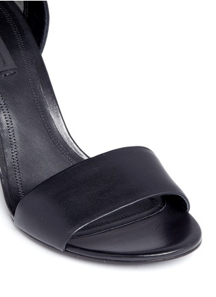Detail View - Click To Enlarge - Alexander Wang  - 'Abby' cutout heel leather sandals