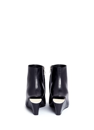 Back View - Click To Enlarge - ALEXANDER WANG - 'Liv' cutout wedge heel ankle boots