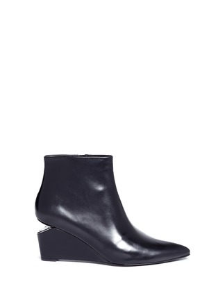 Main View - Click To Enlarge - ALEXANDER WANG - 'Liv' cutout wedge heel ankle boots