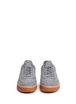Front View - Click To Enlarge - Alexander Wang  - 'Eden Low' felt platform sneakers