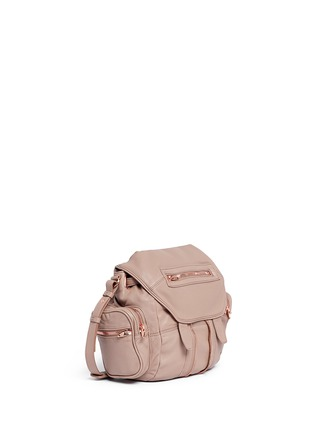Front View - Click To Enlarge - Alexander Wang  - Mini Marti' washed leather three-way backpack