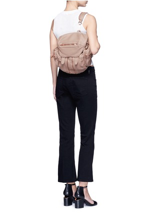 Figure View - Click To Enlarge - Alexander Wang  - Mini Marti' washed leather three-way backpack
