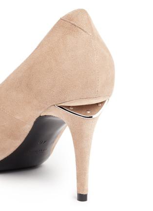 Detail View - Click To Enlarge - ALEXANDERWANG - 'Trista' cutout heel suede pumps