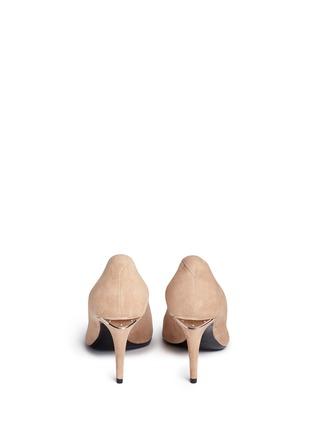 Back View - Click To Enlarge - ALEXANDERWANG - 'Trista' cutout heel suede pumps