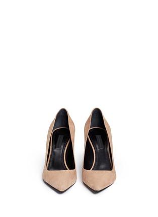 Front View - Click To Enlarge - ALEXANDERWANG - 'Trista' cutout heel suede pumps