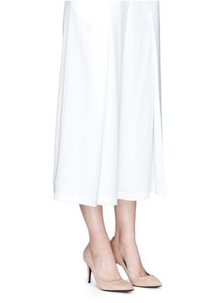 Figure View - Click To Enlarge - ALEXANDERWANG - 'Trista' cutout heel suede pumps