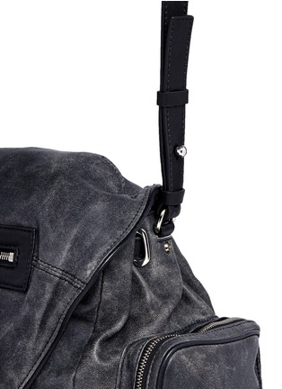Detail View - Click To Enlarge - Alexander Wang  - 'Marti' crackled lambskin leather three-way backpack