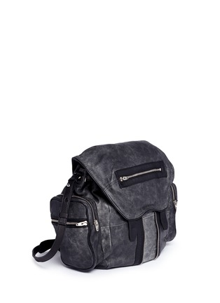 Front View - Click To Enlarge - Alexander Wang  - 'Marti' crackled lambskin leather three-way backpack
