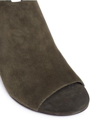 Detail View - Click To Enlarge - ALEXANDERWANG - 'Nadia' cutout heel suede sandal booties