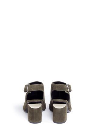 Back View - Click To Enlarge - ALEXANDERWANG - 'Nadia' cutout heel suede sandal booties