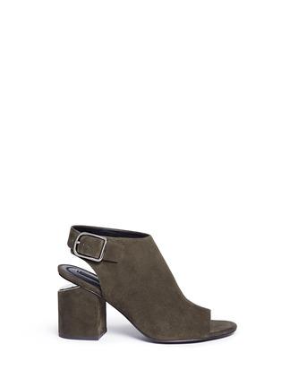 Main View - Click To Enlarge - ALEXANDERWANG - 'Nadia' cutout heel suede sandal booties