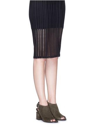 Figure View - Click To Enlarge - ALEXANDERWANG - 'Nadia' cutout heel suede sandal booties
