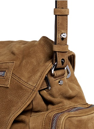 Detail View - Click To Enlarge - ALEXANDER WANG - 'Mini Marti' nubuck leather three-way backpack