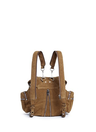 Back View - Click To Enlarge - Alexander Wang  - 'Mini Marti' nubuck leather three-way backpack