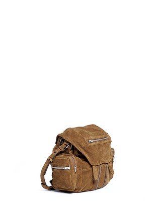 Front View - Click To Enlarge - Alexander Wang  - 'Mini Marti' nubuck leather three-way backpack