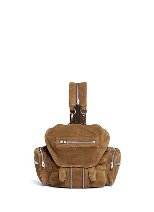 Main View - Click To Enlarge - ALEXANDER WANG - 'Mini Marti' nubuck leather three-way backpack