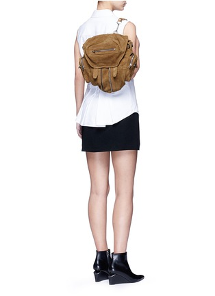 Figure View - Click To Enlarge - Alexander Wang  - 'Mini Marti' nubuck leather three-way backpack
