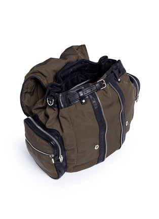 Detail View - Click To Enlarge - Alexander Wang  - 'Marti' nylon three-way backpack