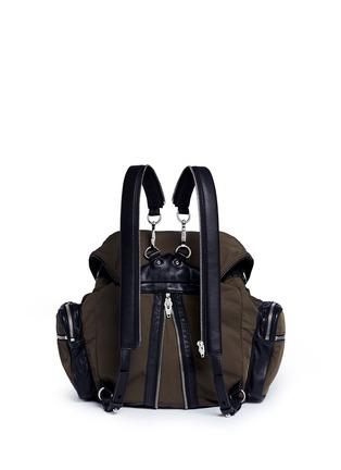 Back View - Click To Enlarge - Alexander Wang  - 'Marti' nylon three-way backpack