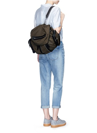 Figure View - Click To Enlarge - ALEXANDER WANG - 'Marti' nylon three-way backpack