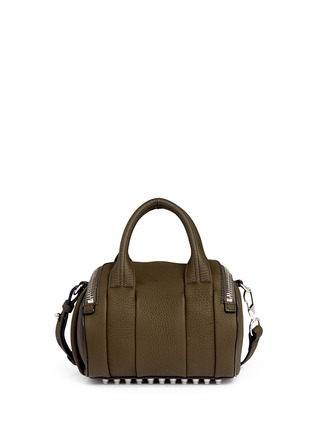 Back View - Click To Enlarge - Alexander Wang  - 'Mini Rockie' pebbled leather duffle bag